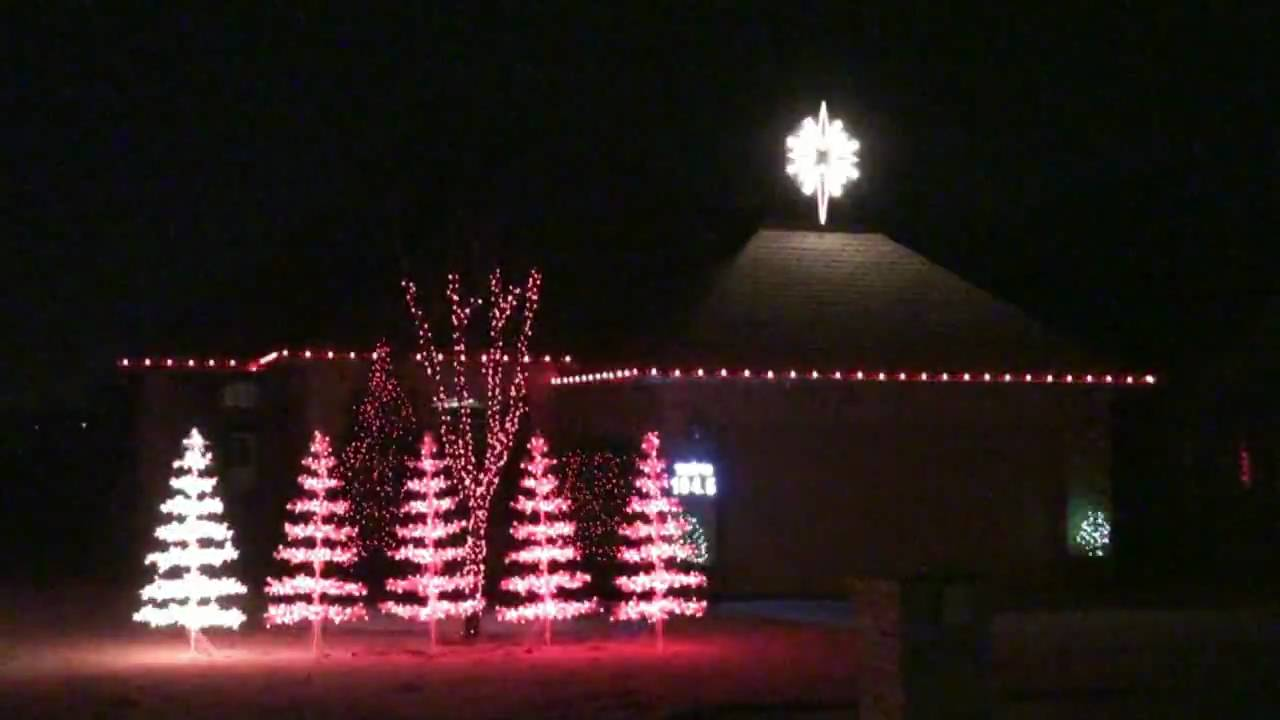 Amazing Grace Christmas Lights Edmond, OK - YouTube