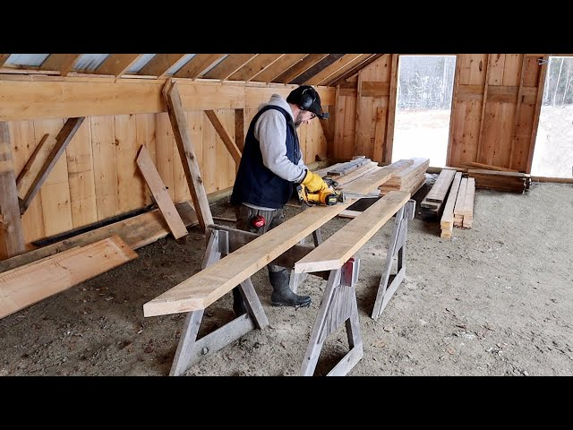 Building Composting OutHouse for Our OFF-GRID Property what it Really Takes Making Roof Rafters
