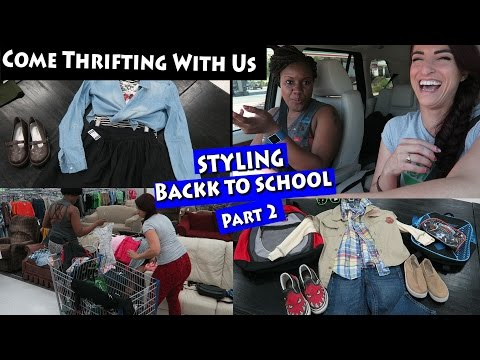 Styling Back to School at Deseret Industries PART 3|Come thrifting with us|#ThriftersAnonymous
