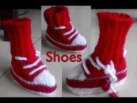 Baby Shoes  in hindi Knitting (बच्चों  के जूते  आसान तरीका )