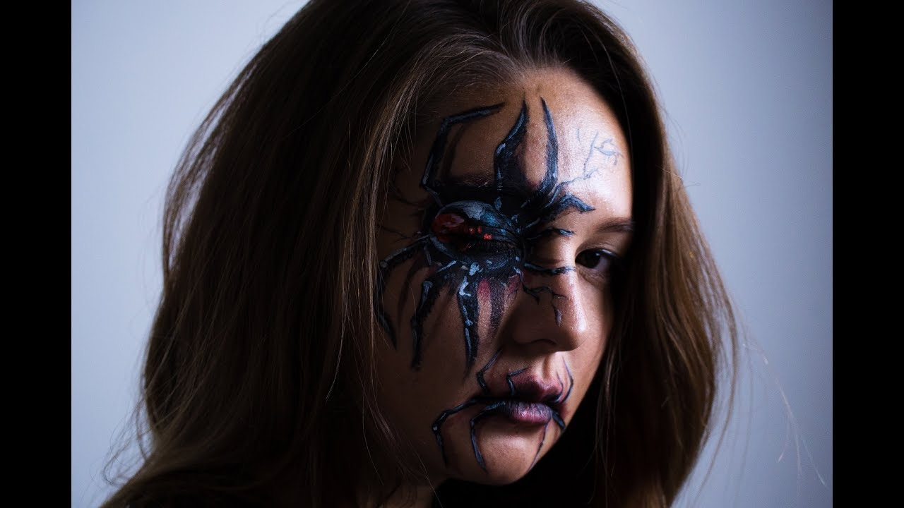 How To Make A Black Widow Face Paint In 5 Mins