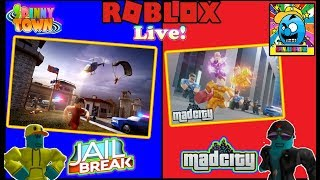 Roblox #76 | MAD CITY + JAILBREAK NEW UPDATES! | LIVE | (sjk livestreams #292)