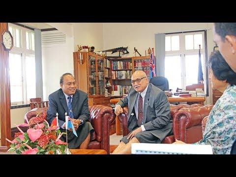 Fijian President received courtesy call from the President of Kiribati.