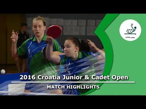 2016 Croatia Junior & Cadet Open Highlights: Lara O./Katarina S. vs Natalia B./Vitalina B. (Final)