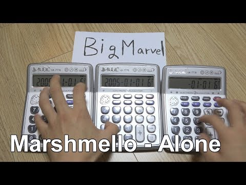 Marshmello - Alone Calculator cover