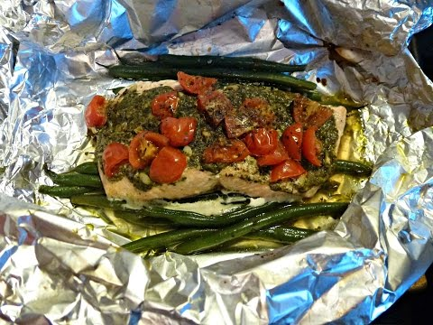Ez Foil Meal: Pesto Salmon
