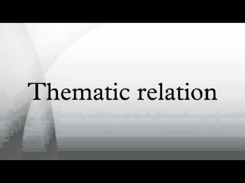Thematic relation