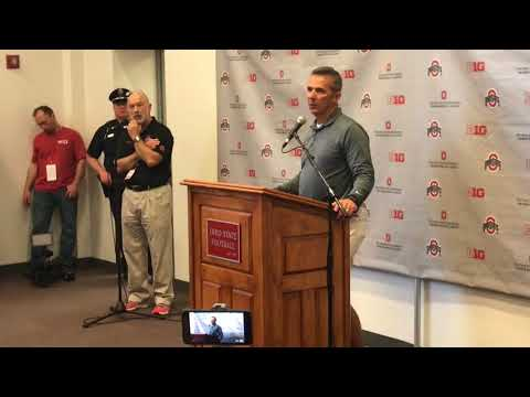 Urban Meyer news conference after Ohio State's spring game