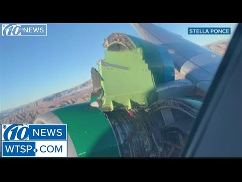 Engine cover rips off Frontier Airlines flight to Tampa