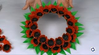 Poppy wreath craft for Remembrance Day