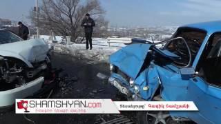 Ջրվեժ գյուղում «ճակատ ճակատի» բախվել են Nissan Teana ն ու «06» ը