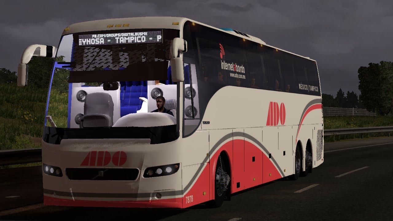 Volvo 9700 Select   Skin Mx   Modbus   Euro truck simulator 2   1 10  --  1 12