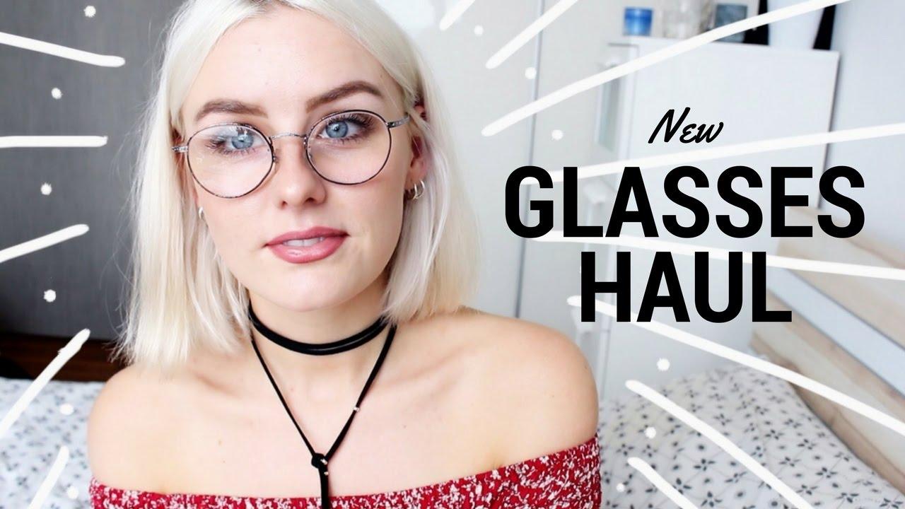 0820ea8f1f NEW GLASSES TRY-ON HAUL 2017 - YouTube