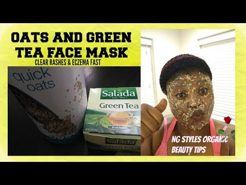 DIY GREEN TEA AND OATMEAL FACE MASK   CLEAR RASHES   CLEAR ECZEMA IN 2DAYS