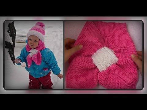 Как связать детский шарф с двухсторонним узором из кос