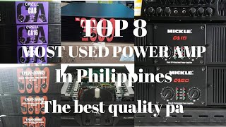 MOST USED POWER AMPLIFIER IN PHILIPPINES 2020 - LIVE, CRELL, AD MICKLE AMP
