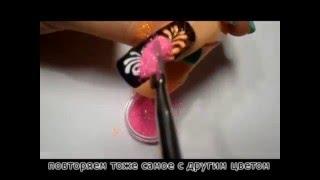 #Дизайн ногтей- #Бархатный песок