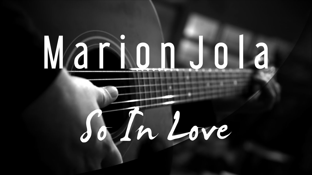 Marion Jola: So In Love ( Acoustic Karaoke )