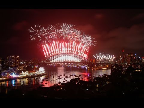 Sydney's spectacular new year 2018 firework display