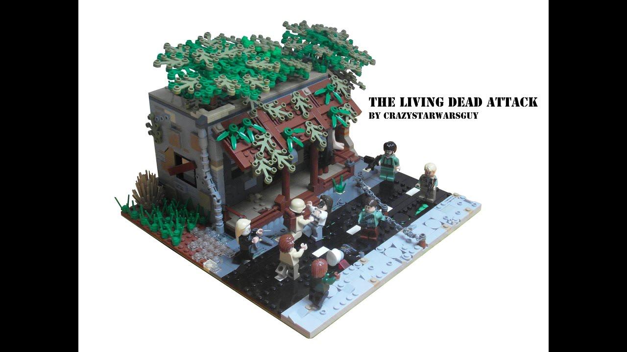 Lego Zombie Apocalypse Moc The Living Dead Attack Youtube