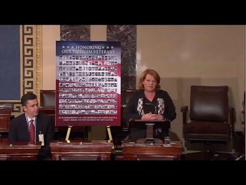 Heitkamp Honors Vietnam Veterans on Senate Floor