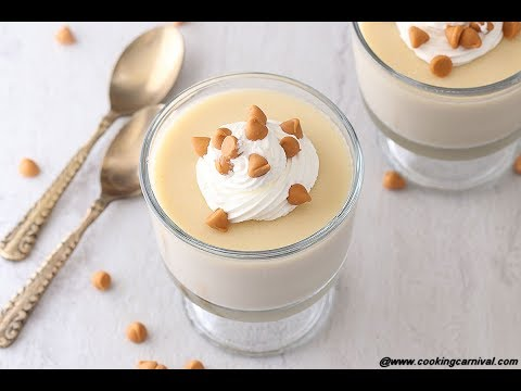 Butterscotch Pudding | No Gelatin Butter scotch Pudding | Easy Dessert