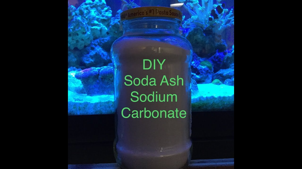 how to make sodium carbonate from baking soda for your reef tank