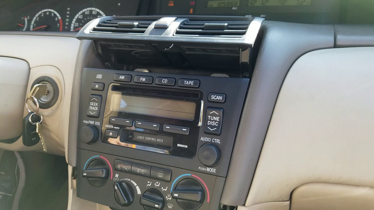 small resolution of how to remove radio cd player from toyota avalon 2001 for repair toyota avalon taillight how