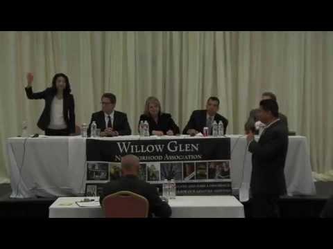 Willow Glen Neighborhood Association San Jose Mayoral Debate on April 24, 2014