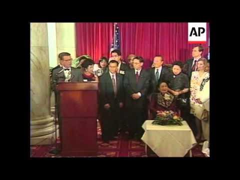 USA: WASHINGTON: MADAME CHIANG KAI-SHEK HONOURED AT CAPITAL HILL