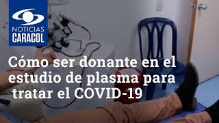 Vea cómo ser donante en el estudio de plasma convaleciente para tratar el COVID-19