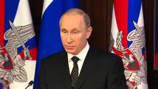 Путин поставил задачи армии и флоту 19.12.2014