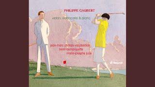 3 Aquarelles (version for violin, cello and piano) : No. 1. Par un clair matin