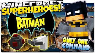 Minecraft | How To Be A Superhero! | BATMAN! | Only One Command (One Command Creation)