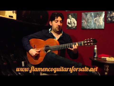 Antonio Rey plays the Conde Hermanos 1977 flamenco guitar for sale
