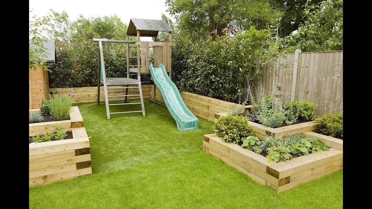 Design garden i design garden layout youtube for Garden decking borders