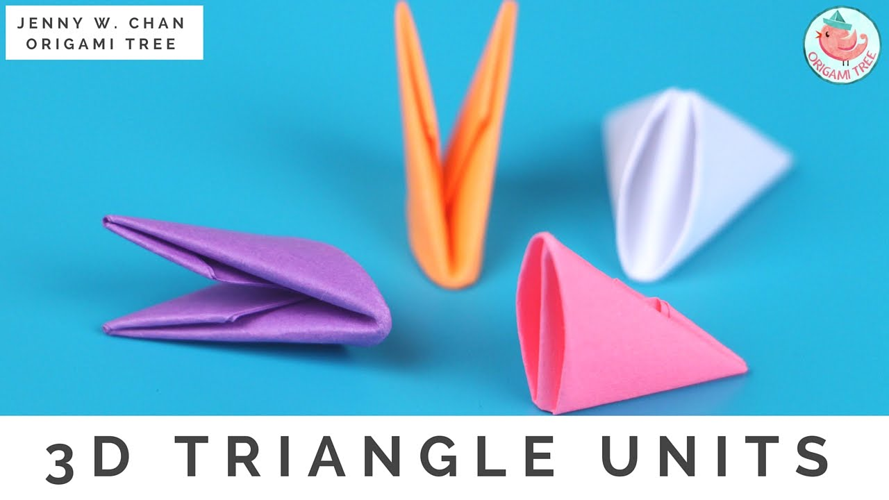 How to fold 3d origami pieces make the 3d origami triangle units how to fold 3d origami pieces make the 3d origami triangle units 3d origami basics youtube reviewsmspy