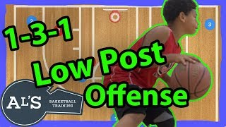 1-3-1 Low Post Basketball Plays