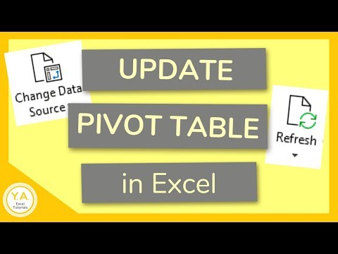 How To Update Pivot Table When Source Data Changes In Excel - Tutorial