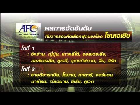 ผลจับสลากแบ่งสายฟุตบอลโลกรอบคัดเลือก โซนเอเชีย