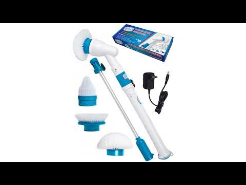 Power Spin Scrubber Cleaning Brush - Upgraded Deluxe Electric Scrubber with 3 Brush Heads
