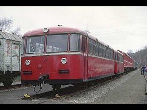 Schienenbusfahrt Oldtimer: Von Gerolstein nach Kaisersesch (Musikvert.) Rail bus ride railcar
