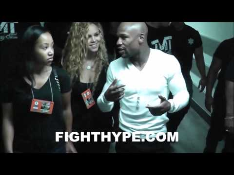 MAYWEATHER VS. MAIDANA 2 BEHIND THE SCENES: FLOYD MAYWEATHER DEPARTS MGM AFTER GRAND ARRIVAL
