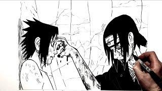How to Draw Itachi vs Sasuke | Naruto