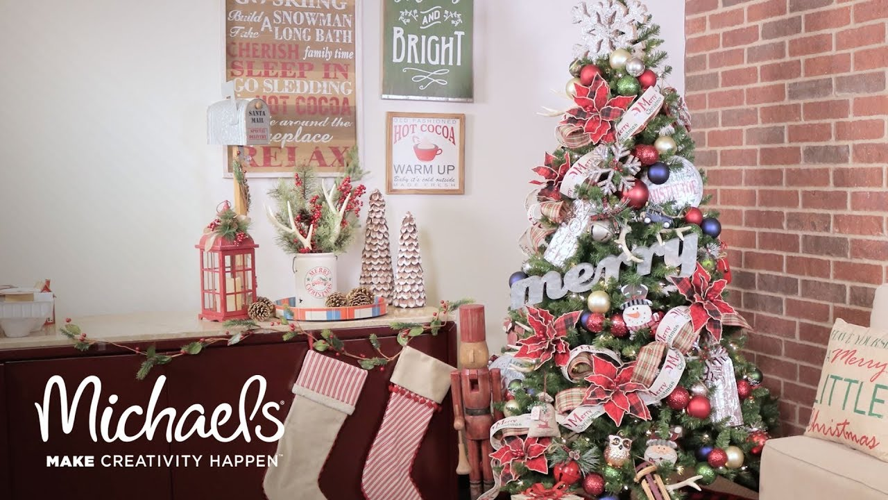 christmas tree decor time lapse michaels - Christmas Tree Michaels