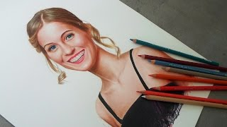 Realistic Portrait Drawing - Pirmsacolor Colored Pencils