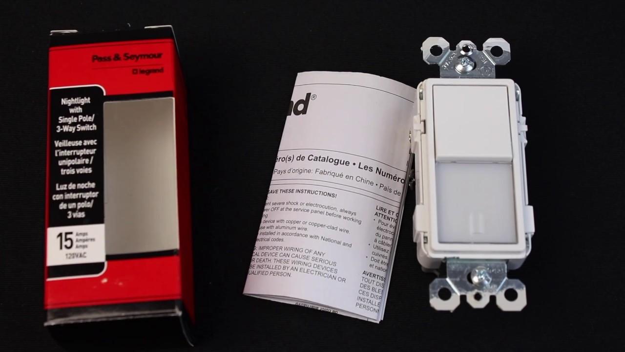review legrand nightlight switch ntl873wcc6 pass seymour [ 1280 x 720 Pixel ]