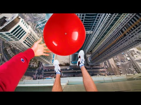 Worlds Strongest Water Balloon VS Roof Drop