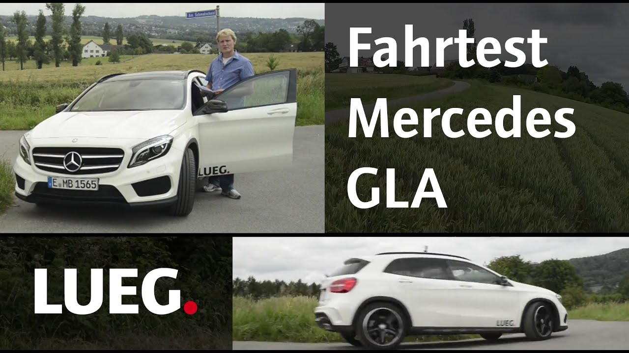 mercedes gla test youtube. Black Bedroom Furniture Sets. Home Design Ideas