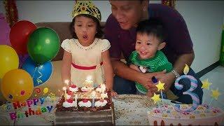 Gambar cover Tiup Lilin Ulang Tahun Hana Ke-3 🎂|| Happy Birthday Our Little Princess❤